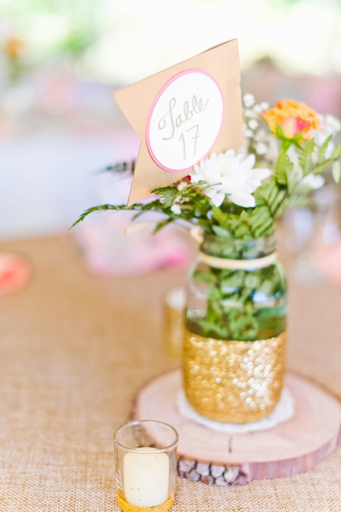 colorful rustic centerpiece | Kate Supa Photography  | Glamour & Grace