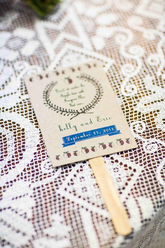 handmade program fan | Blueberry Photography | Glamour & Grace