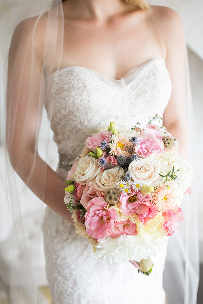pink and yellow bouquet | Kaysha Weiner Photographer | Glamour & Grace