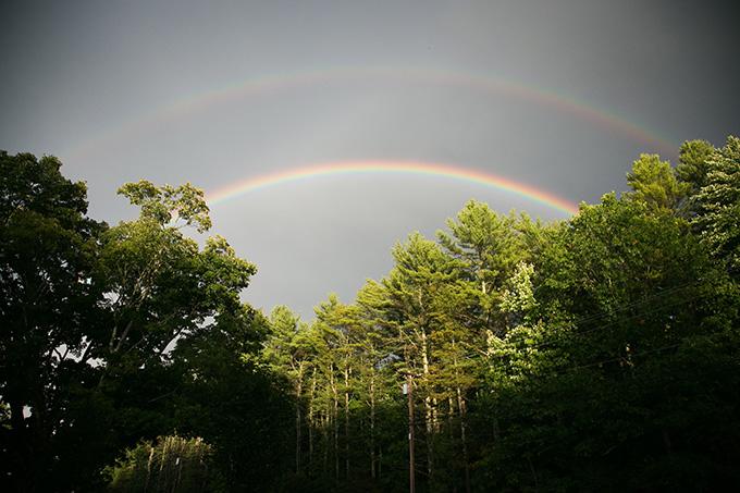 double rainbow | Kaysha Weiner Photographer | Glamour & Grace