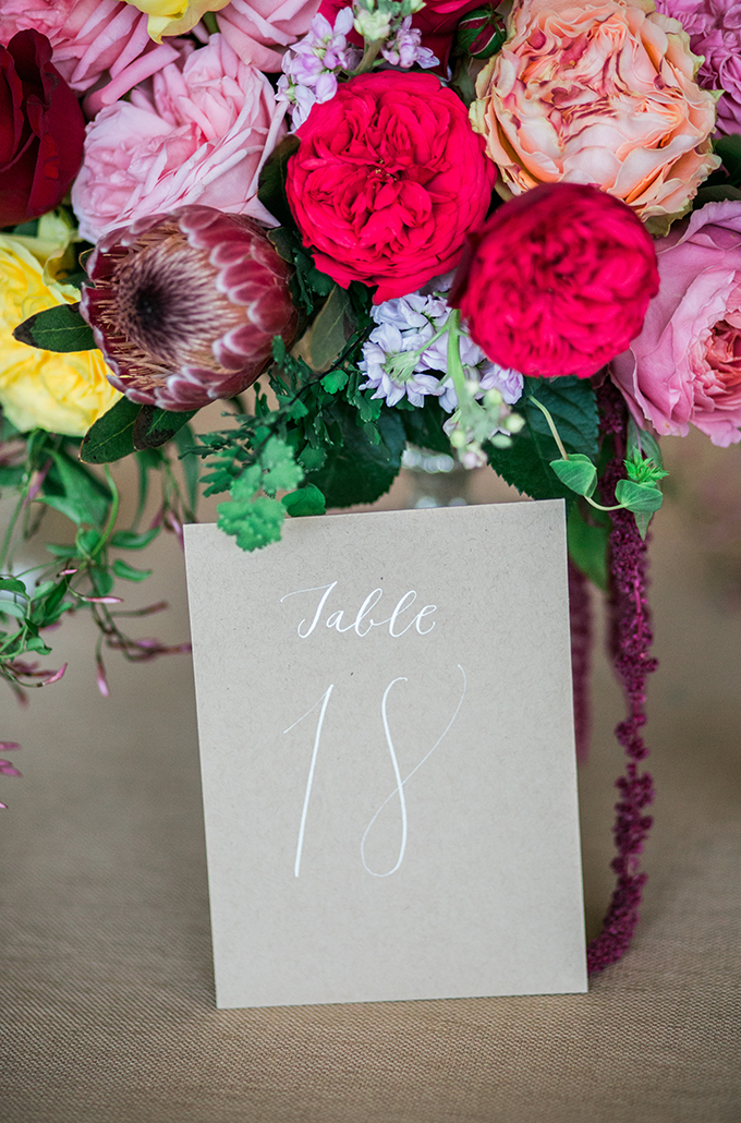 craft paper table number | The Bird & The Bear | Glamour & Grace