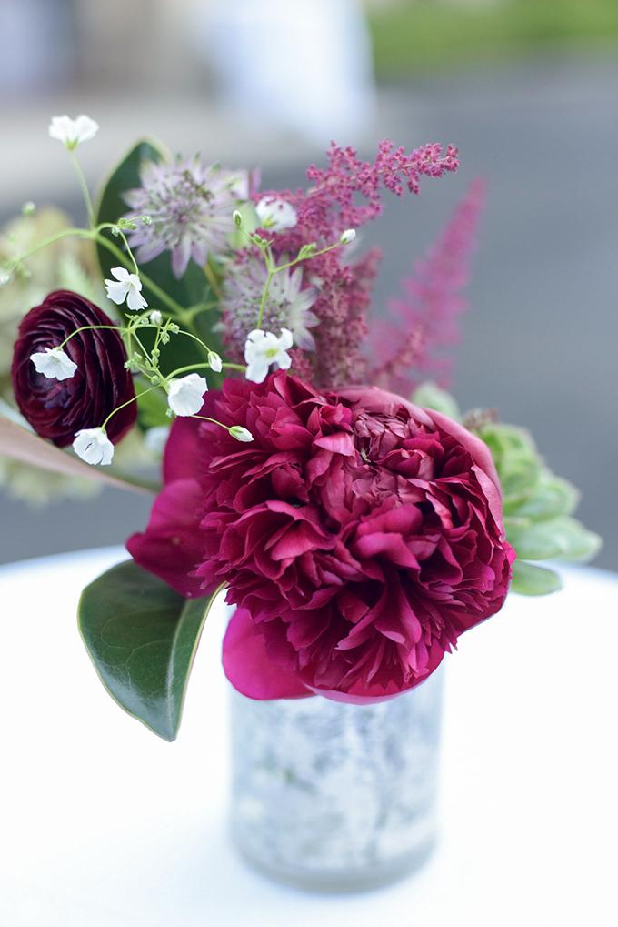 red centerpiece | Jenny Smith & Co. | Glamour & Grace