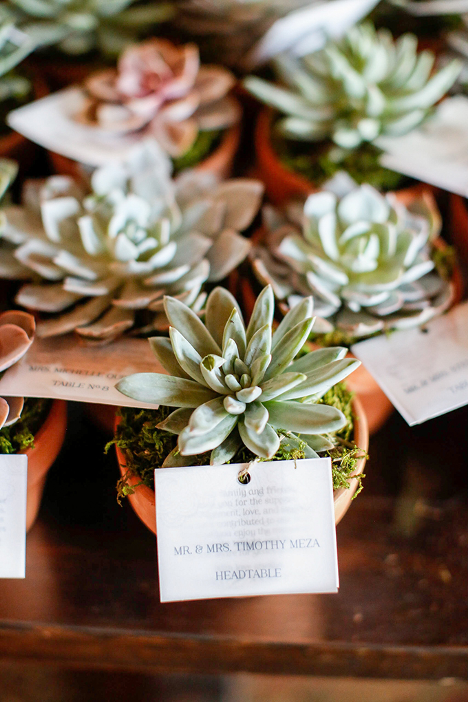 succulent escort cards and favors | Jenny Smith & Co. | Glamour & Grace