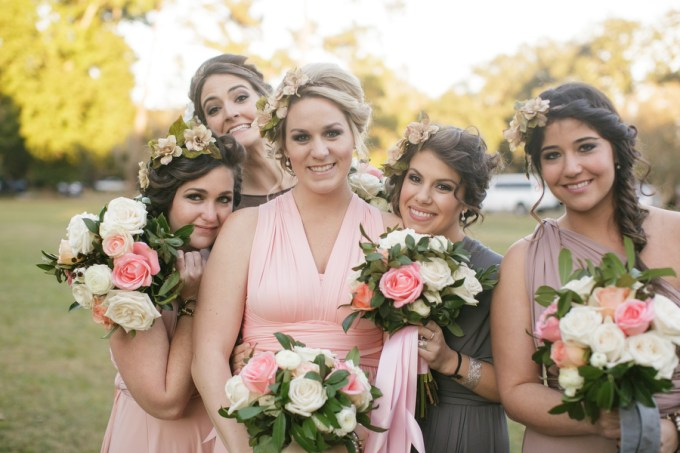 whimsical bridesmaids   Greer Gattuso Photography   Glamour & Grace
