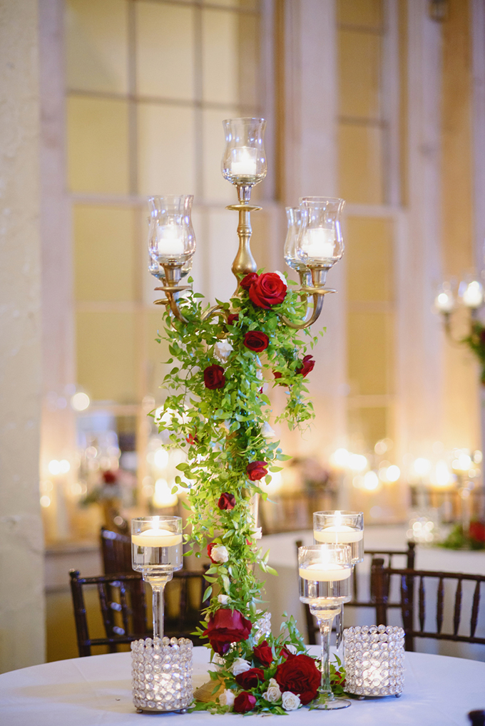 glam red centerpieces | Greer G Photography | Glamour & Grace