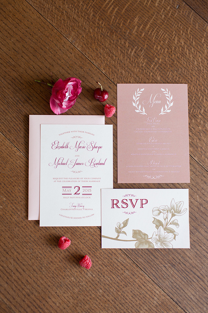 red and pink invitation | Lindsay Fauver Photography | Glamour & Grace