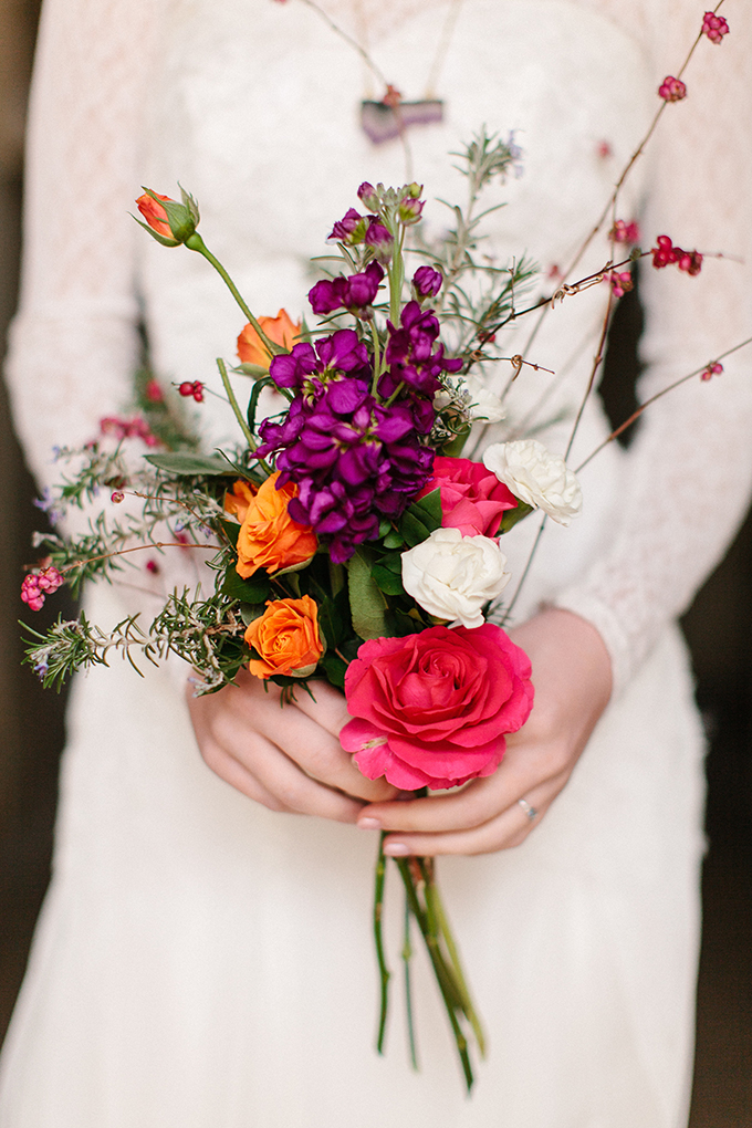 colorful bouquet | Kristen Curette Photography | Glamour & Grace