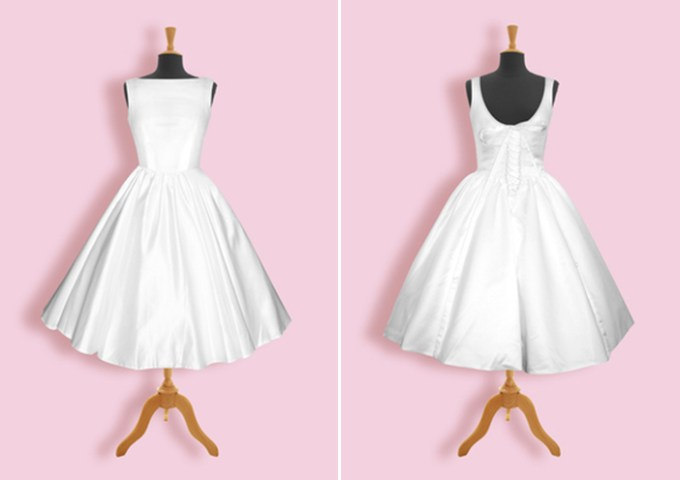 Audrey Hepburn wedding dress | Honeypie Boutique