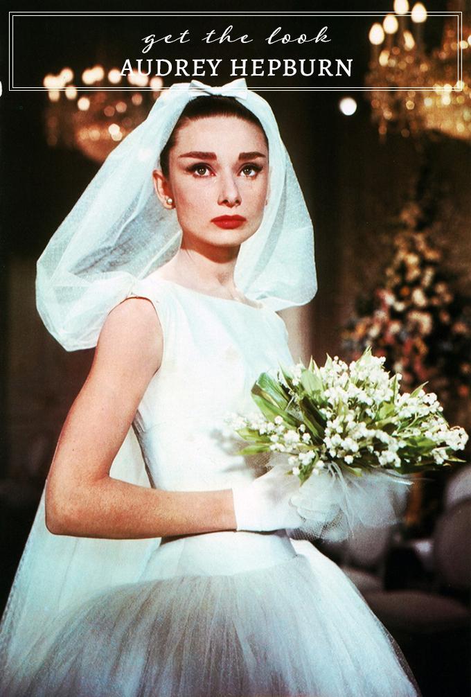modern picks for Audrey Hepburn's classic wedding dress look