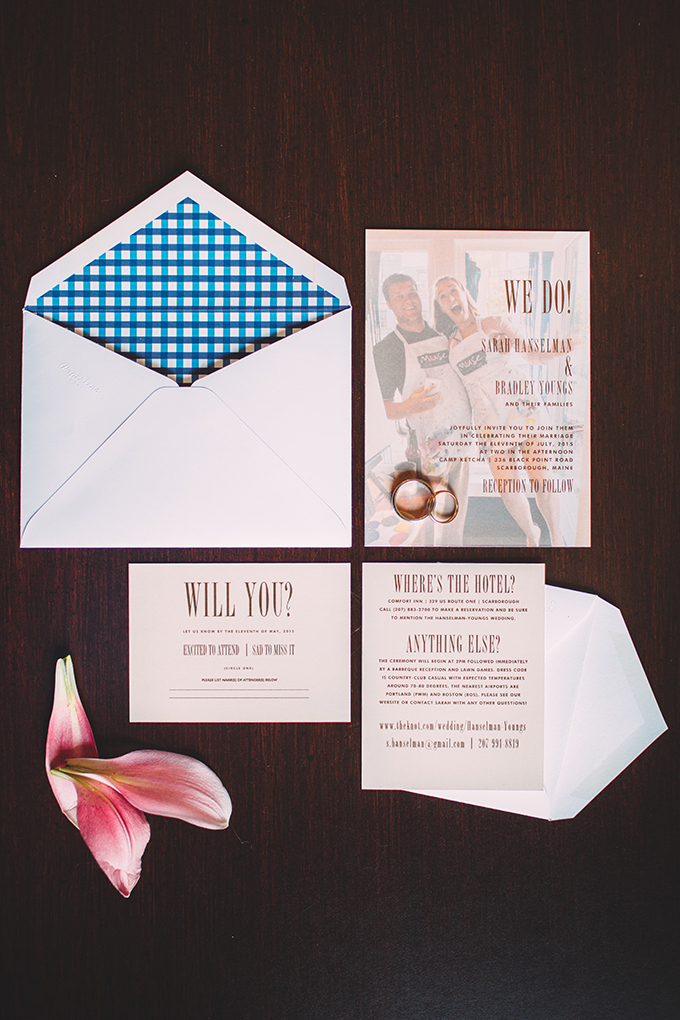 DIY summer camp wedding  invitation | Jamie Mercurio Photography | Glamour & Grace