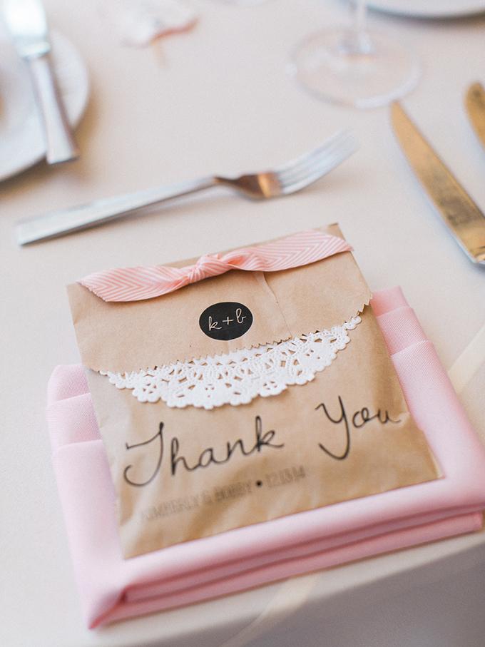 craft paper favors | Rachel Solomon Photography | Glamour & Grace