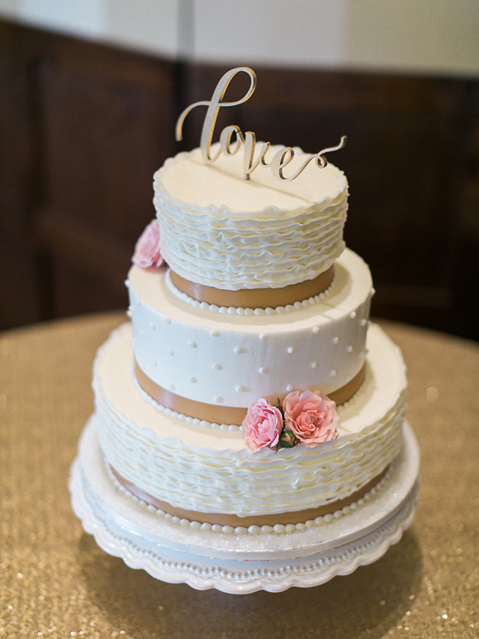 white ruffle cake | Rachel Solomon Photography | Glamour & Grace