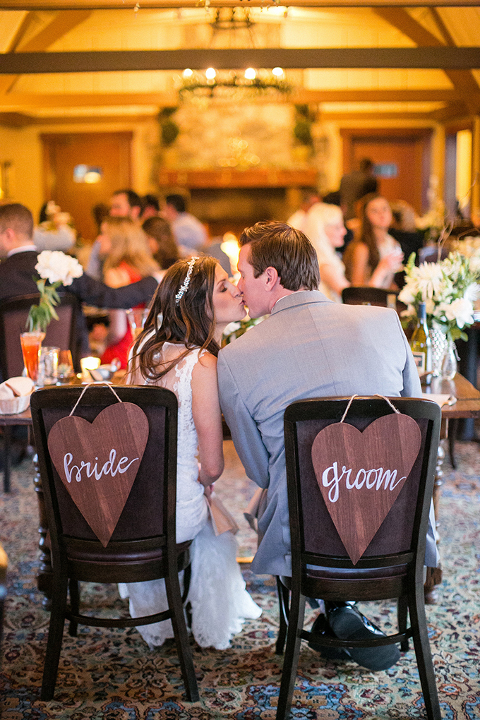 wood heart bride and groom signs | Anna Marks Photography | Glamour & Grace