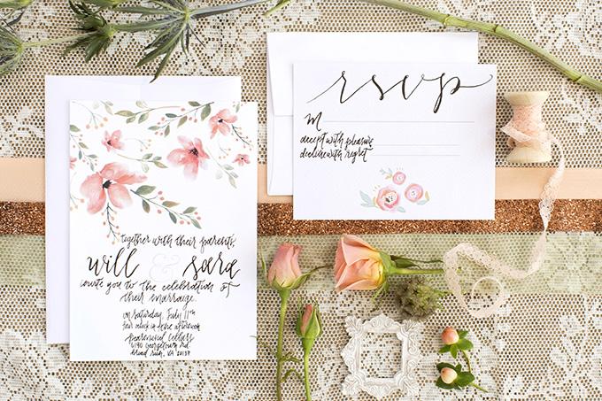 floral invitation | Lieb Photographic | Glamour & Grace