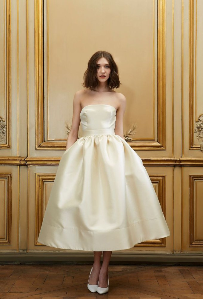 tea length wedding dress   Delphine Manivet