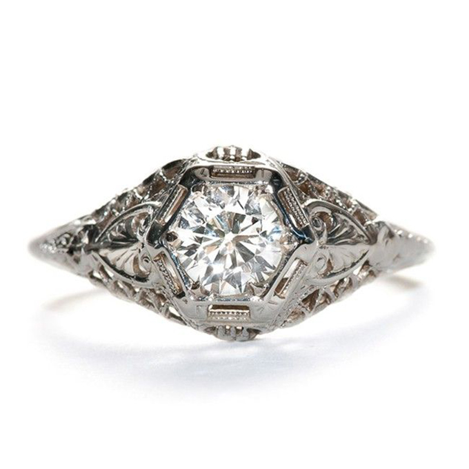vintage engagement ring | Glamour & Grace