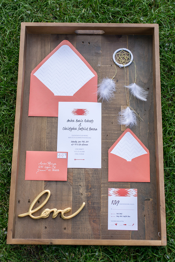 orange invitation | Tina Joiner Photography | Glamour & Grace