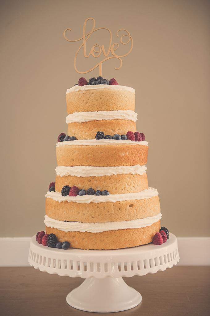 naked berry cake | Katie Slater Photography | Glamour & Grace