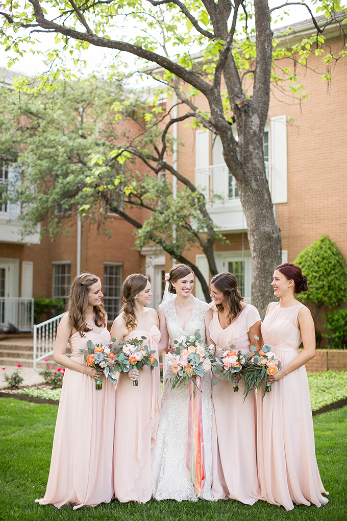 pink bridesmaids | Michele Shore Photography | Glamour & Grace