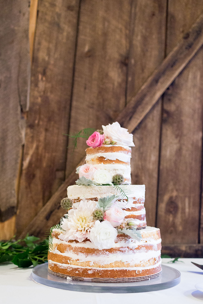 romantic naked cake | Mathew Irving Photography | Glamour & Grace