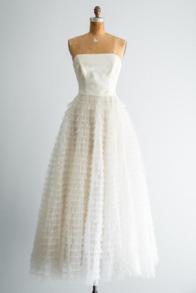 vintage 1950's wedding dresses | Glamour & Grace