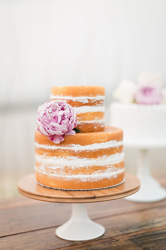 naked cake | Stephanie Michelle Photography | Glamour & Grace