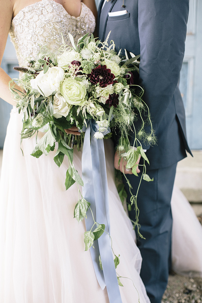 green and burgundy bouquet | Kate Preftakes Photography | Glamour & Grace