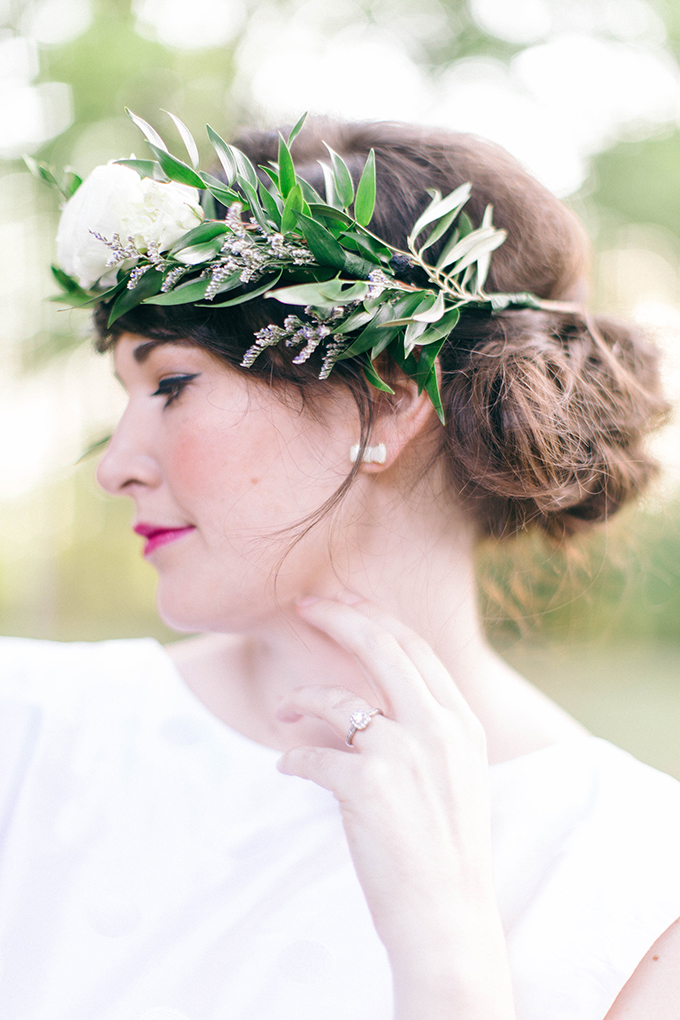 flower crown | Nikki Santerre | Glamour & Grace