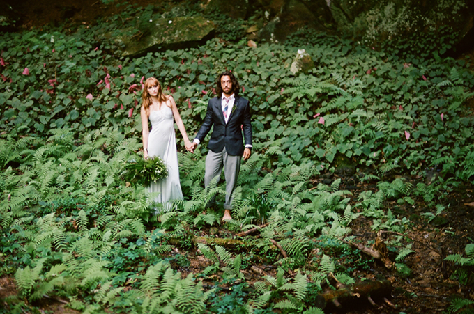 romantic forest elopement | White Rabbit Studios | Glamour & Grace