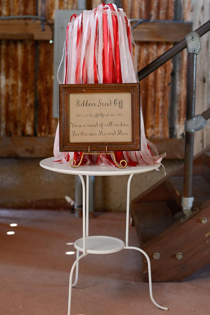 ribbon send off | Eureka Photography | Glamour & Grace