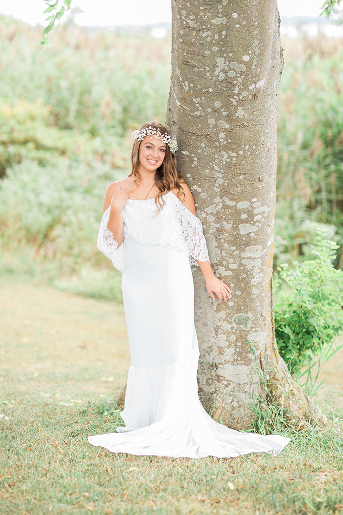 seaside boho bridal session | Heather & Jared Photography | Glamour & Grace