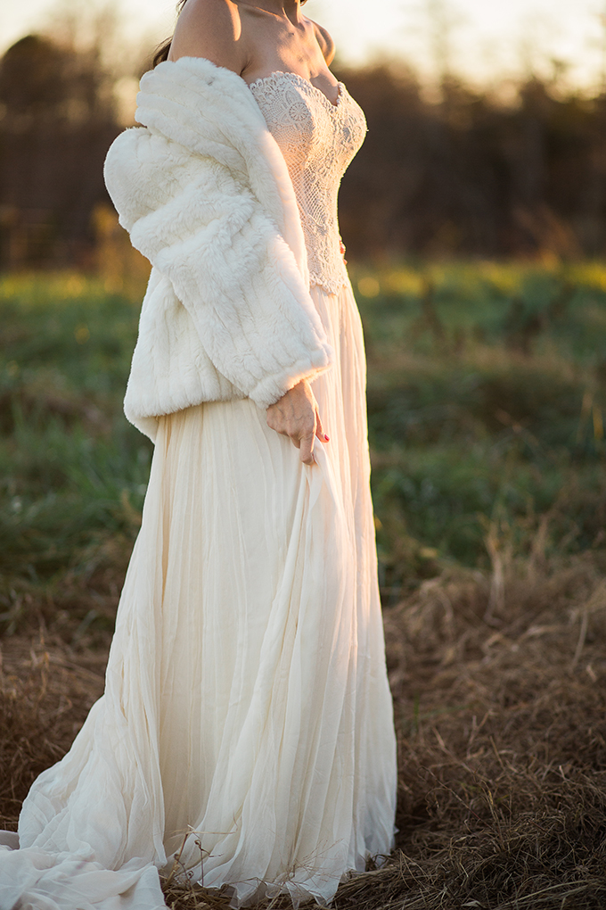 sunset winter bridals | Lindsey Zovko Photography | Glamour & Grace
