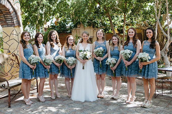 blue lace bridesmaids | Jay & Jess Photography | Glamour & Grace