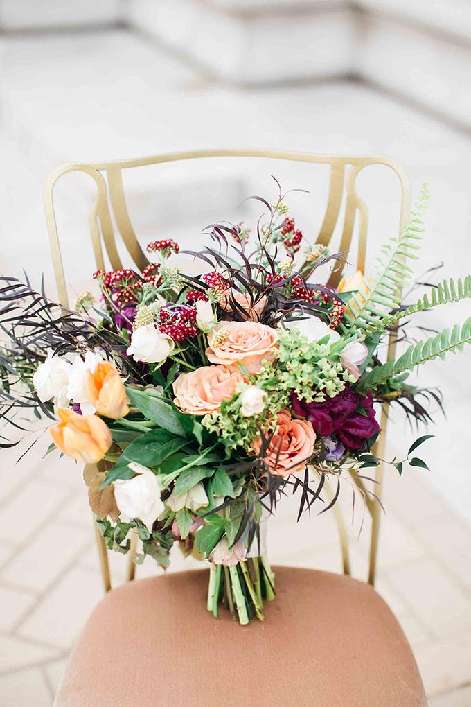 peach bouquet | Erin Stubblefield Weddings and Portraiture | Glamour & Grace