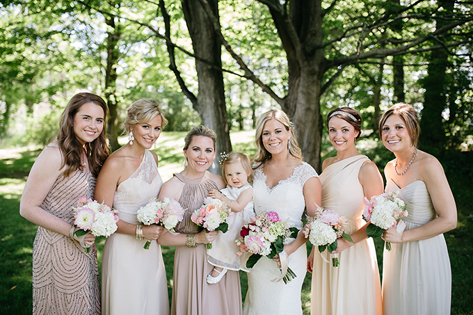 neutral tone bridesmaids | Dan Stewart Photography | Glamour & Grace
