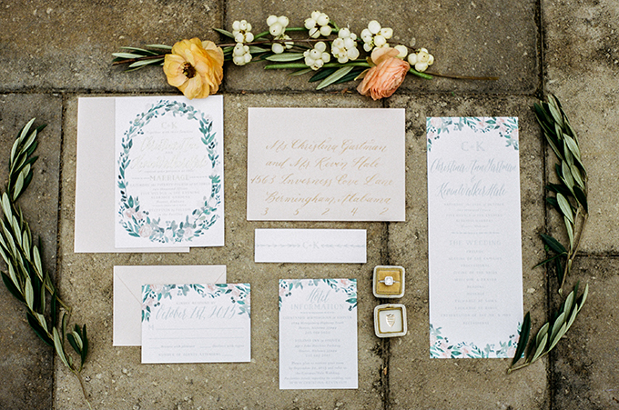 calligraphy invitation | Alisha Crossley Photography | Glamour & Grace