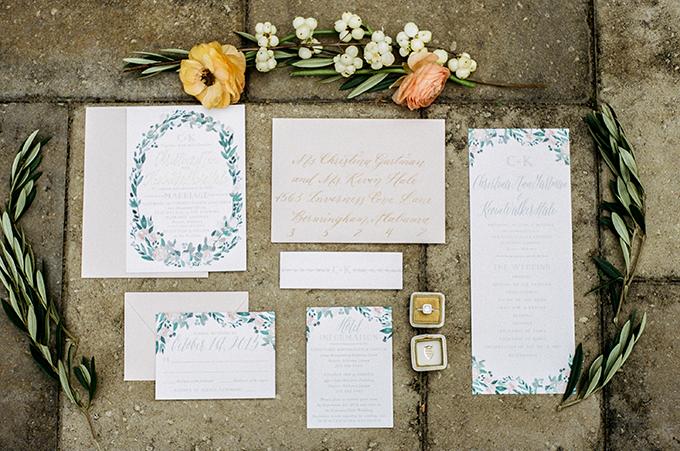 calligraphy invitation | Alisha Crossley Photography | Glamour & Grace