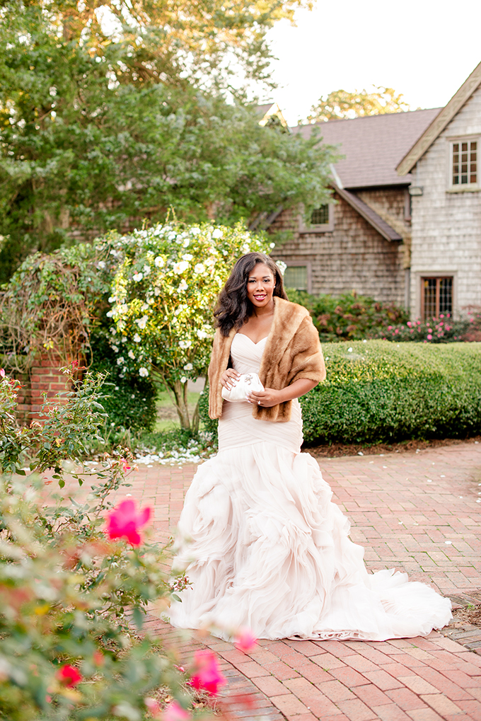 romantic blush garden bridals | Kimberly Florence Photography | Glamour & Grace