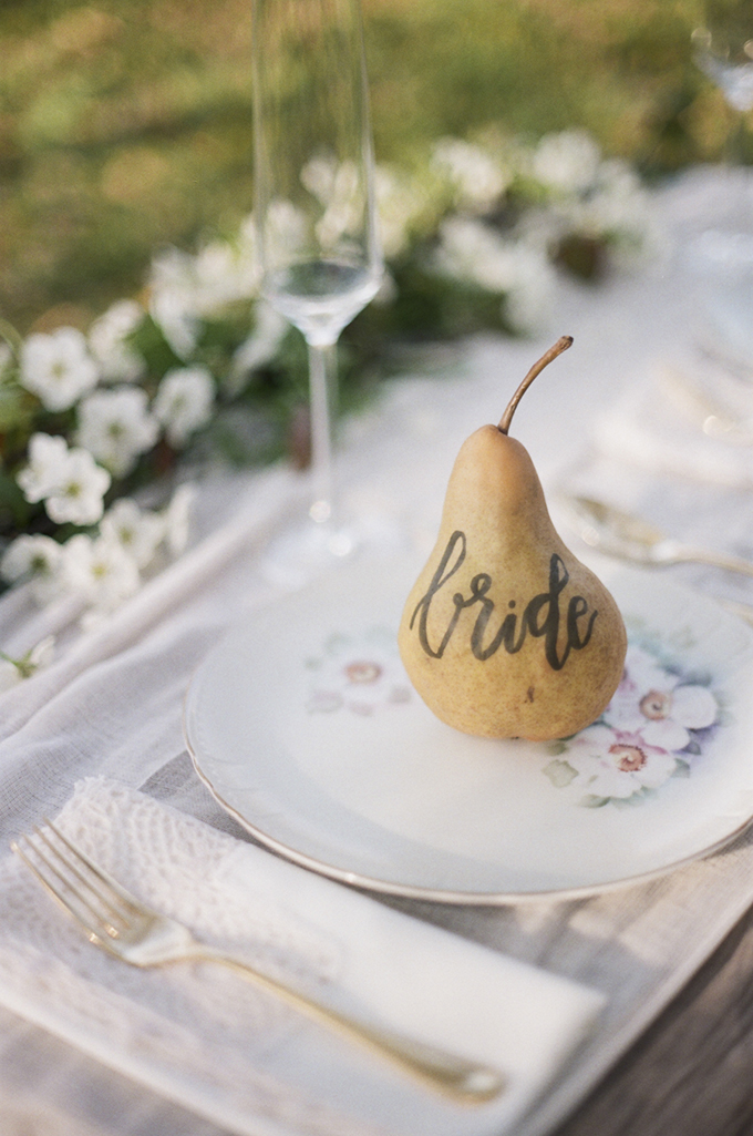 pear place setting   Christine Gosch   Glamour & Grace