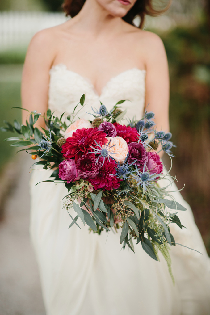 lush magenta and blush bouquet | Q Avenue | Glamour & Grace