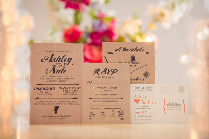 kraft paper invitation | Jaclyn Schmitz Photography | Glamour & Grace