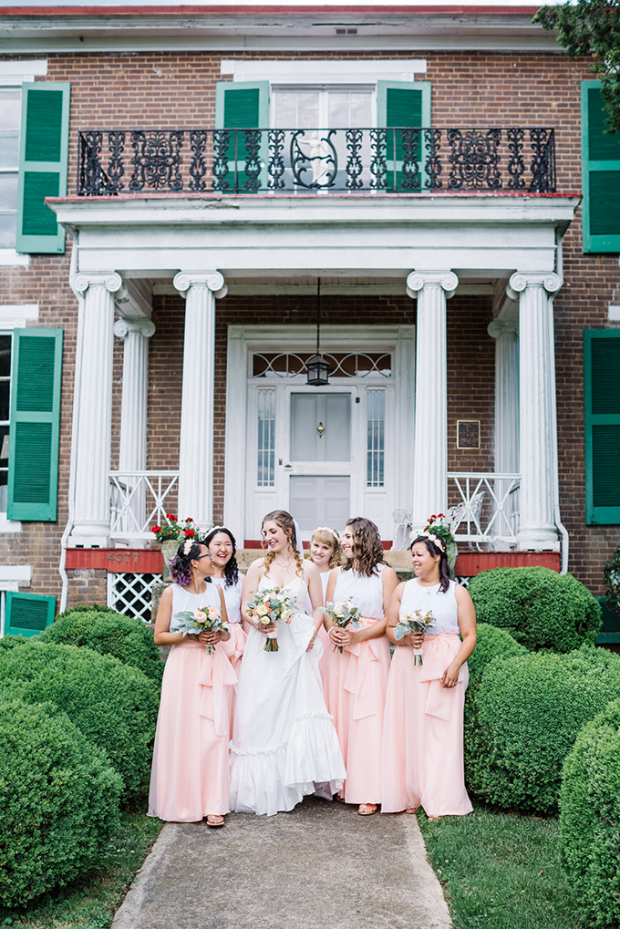 handmade peach wedding | Karyn Johnson Photography | Glamour & Grace