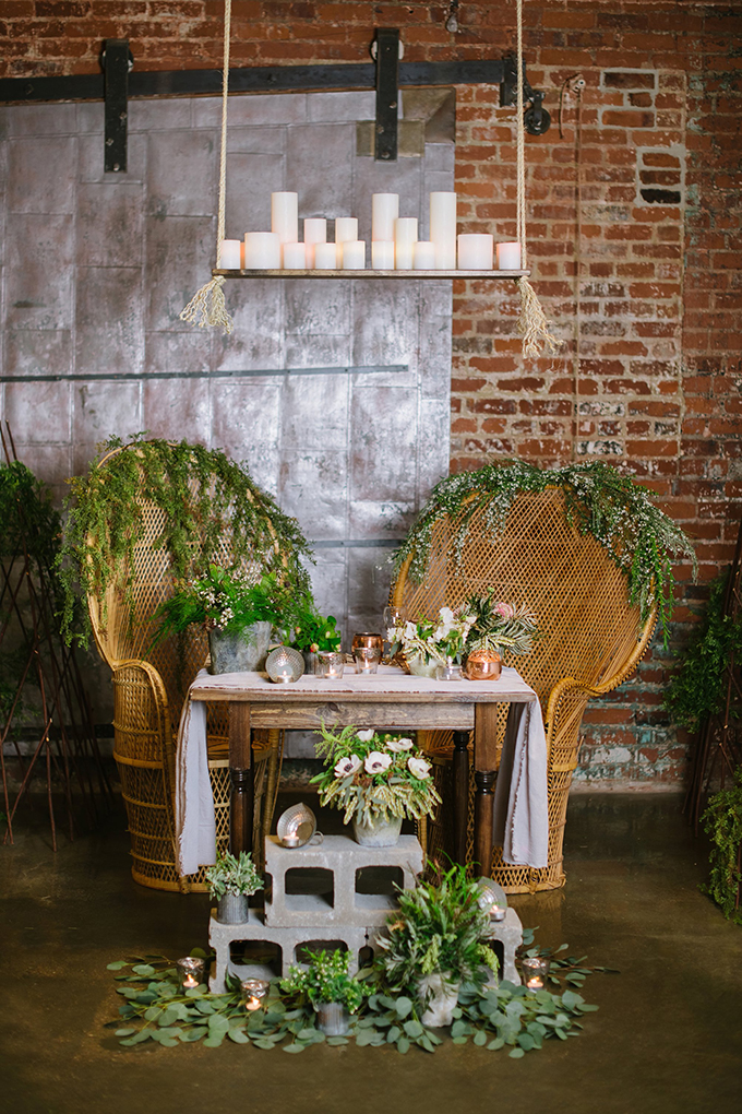 industrial sweetheart table | Christiansen Photography | Glamour & Grace