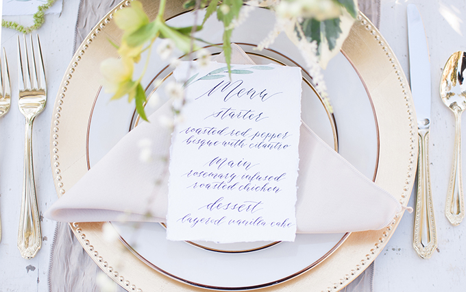 romantic neutral garden wedding inspiration | Elizabeth Moore Photography | Glamour & Grace