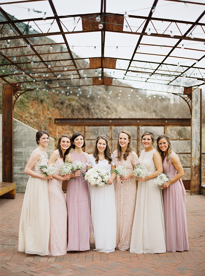 blush and cream mismatched bridesmaids | JoPhoto | Glamour & Grace
