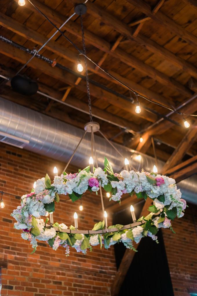 peony chandelier | Henry Photography | Glamour & Grace