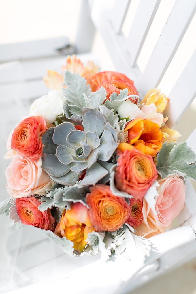 orange bouquet | Jessica Ryan Photography | Glamour & Grace