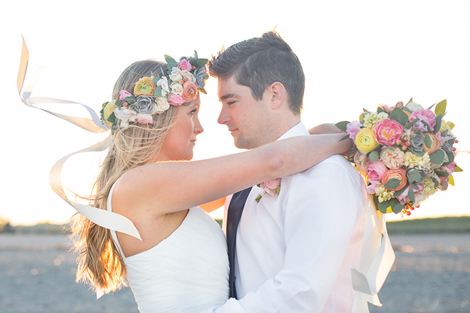 sunset beach wedding inspiration | Shaina Lee Photography | Glamour & Grace