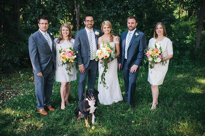 handmade summer backyard wedding | Ayres Photography | Glamour & Grace