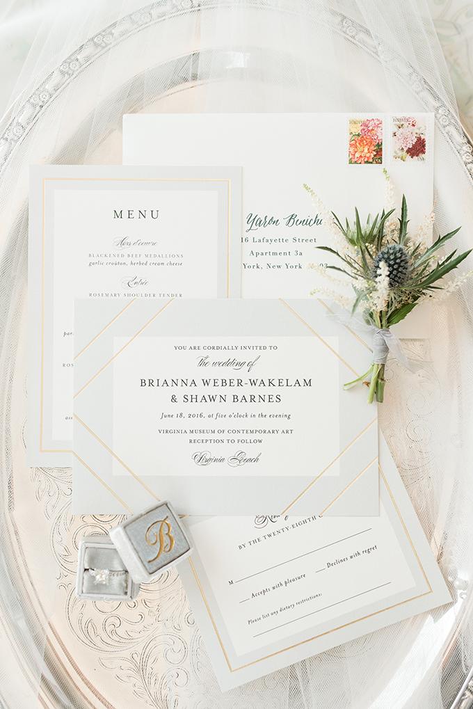 elegant gray invitation | Audrey Rose Photography | Glamour & Grace